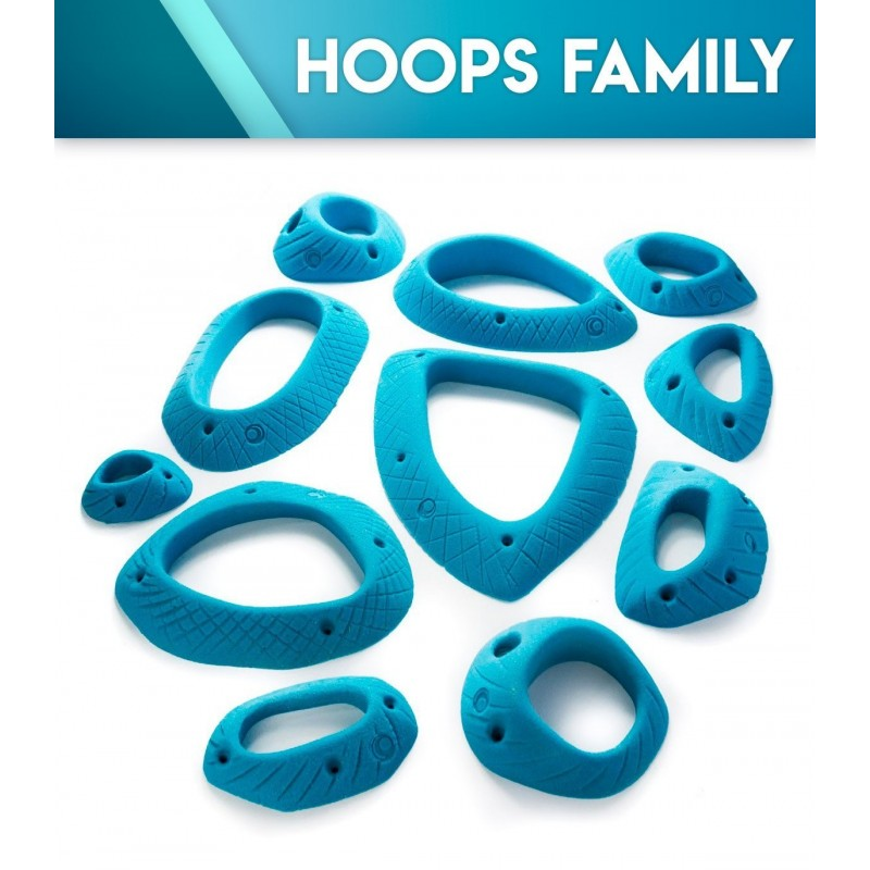 Presas de escalada Hoops Family
