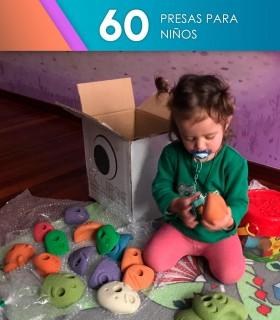 60 presas de escalada iniciacion y niños.