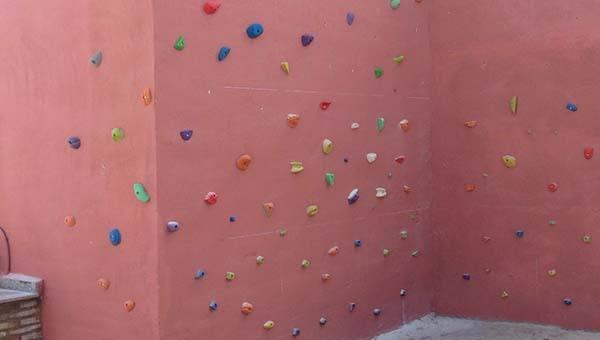 Muro aleatorio de escalada