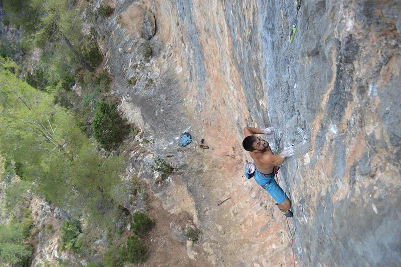 escalada deportiva roca